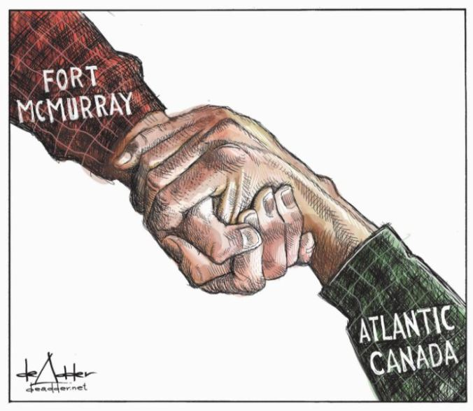 Fort Mac - Atlantic Canada Political Cartoon